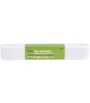 Dritz 1'' Wide x 2.5Yds Non Roll Elastic