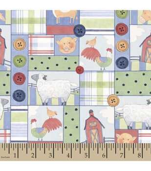 Nursery Fabric-Susan Winget Down On The Farm Country Patch Cotton