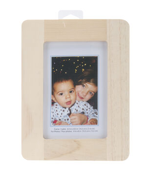 "Natural Pine Photo Frame-6.5""X8.5"""