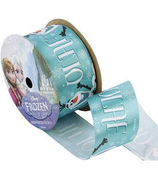 """Frozen Ribbon 1-1/2""""x9'-Olaf Name"""