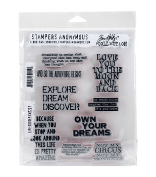 Stampers Anonymous Life Quotes Cling Rubber Stamp Set