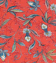 Keepsake Calico™ Cotton Fabric-Julie Vine On Red, , hi-res