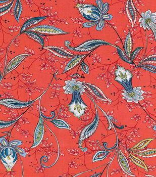 Keepsake Calico™ Cotton Fabric-Julie Vine On Red