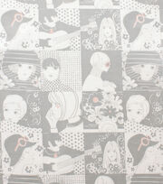 Alexander Henry Cotton Fabric-Chelsea Grey Tea, , hi-res