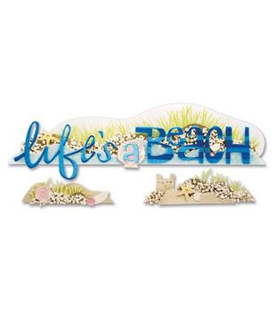 Jolee's Boutique A Day At The Beach Title Wave Stickers-Life's A Beach