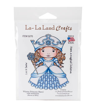 La-La Land Crafts Cling Stamps-Winter Princess