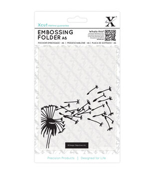 Xcut Universal A6 Embossing Folder-Blowing Dandelions