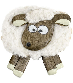 Vanessa Bee Designs Shocked Fluffy Sheep Magnet
