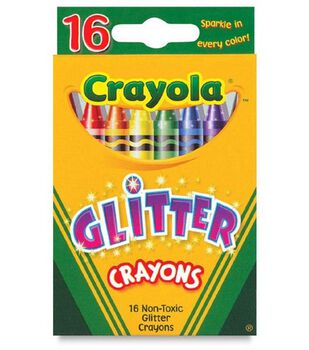 Multi-Colored Glitter Crayons-16/Pkg