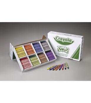 Crayola 200 count Jumbo Size Crayon Classpack, 8 colors