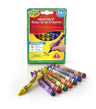 My First Crayola Washable Triangular Crayons -8/Pkg