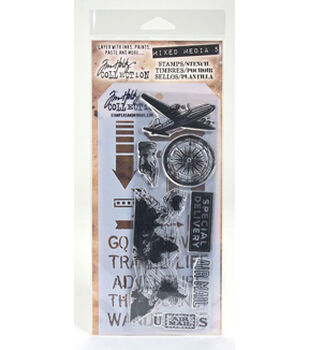 Tim Holtz Collection Stamps/Stencils- Mixed Media 5