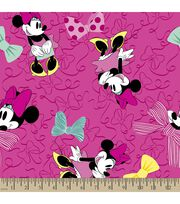 Disney® Minnie Mouse Print Fabric-Large Bows, , hi-res