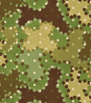 Snuggle Flannel Fabric-Camo Dots Green/Brown