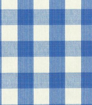 Home Decor 8''x 8'' Swatch Fabric-Williamsburg Stratford Check Blubell