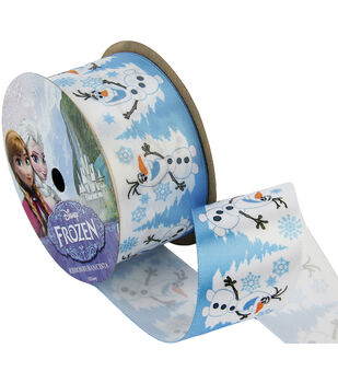 "Frozen Ribbon 1-1/2""x9'-Olaf Snowy"