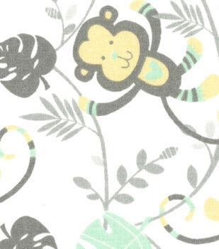 Nursery Fabric - Monkey Toss