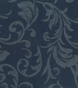 Signature Series Solid Jacquard Fabric-Navy