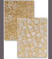 M-Bossabilities Reversible A4 Embossing Folder-Hearts, , hi-res