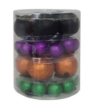 Maker's Halloween 32ct Ornament Set-Multicolored Glitter