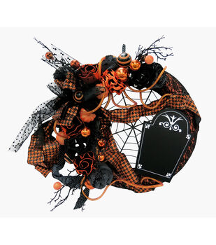Maker's Halloween Tombstone Wreath