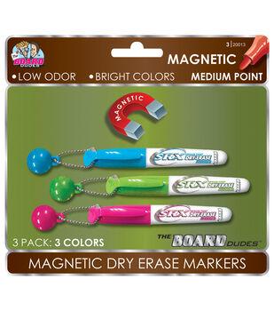3pk Mini Mag Dry Erase Markers W/Tassel