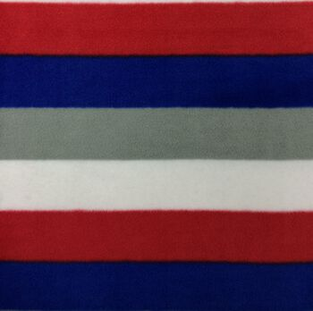 Extra Wide Premium Fleece Fabric- Red Blue Gray Stripe