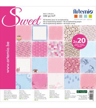 Artemio 40ct 12''x12'' Sweet Papers