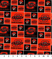 Oklahoma State University NCAA  Cotton Fabric, , hi-res