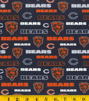 Chicago Bears NFL Glitter Cotton Fabric by Fabric Traditions, , hi-res