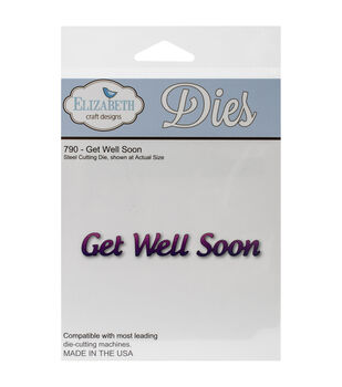 Elizabeth Craft Designs Pop It Up Metal Get Well Soon Die