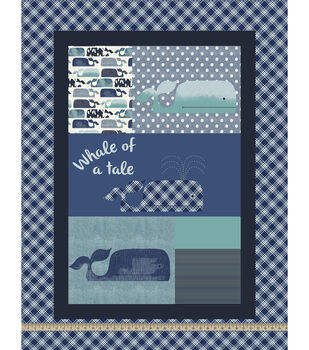 Nursery Fabric-Baby Whale Panel