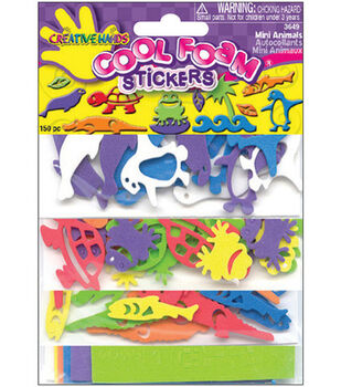 Fibrecraft Cool Foam Stickers-150PK/Mini Animals