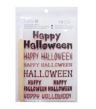 Little B 2ct Rub-Ons-Happy Halloween