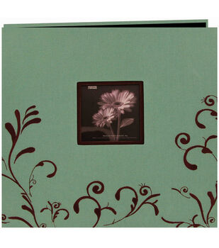 "Pioneer 12""x12"" Embroidered Postbound Album-Aqua"