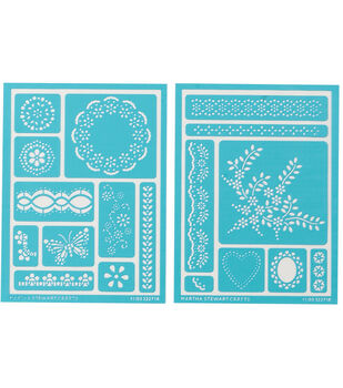 Martha Stewart Adhesive Stencils 2 Sheets/Pk-Fair Isle Dots