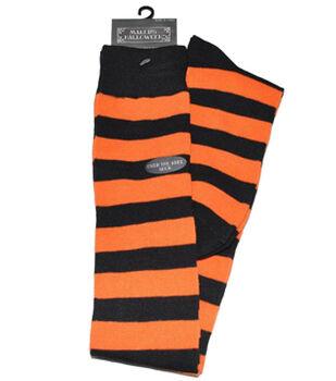 Maker's Halloween Rugby Over the Knee Socks-Black/Orange