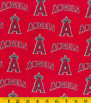 Los Angeles Angels MLB Tossed Cotton Fabric, , hi-res