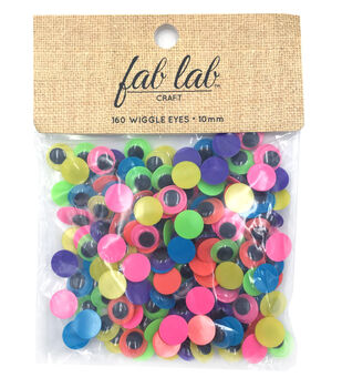 Darice Neon Paste On Eyes Craft Supplies