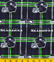 Seattle Seahawks NFL Flannel Fabric, , hi-res