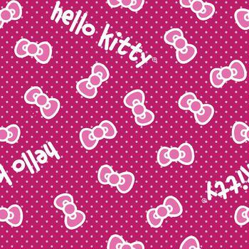 Sanrio Hello Kitty Classic Bow Fleece Fabric