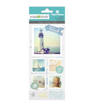 Snapshots Word Stickers-Beach
