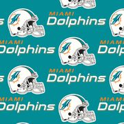 Miami Dolphins NFL Cotton Fabric by Fabric Traditions, , hi-res