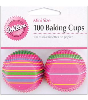 Wilton® Mini Baking Cups-Snappy Stripes