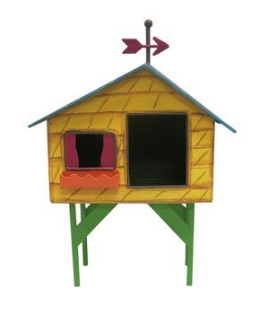 Fairy Garden Stilts Metal House-Green