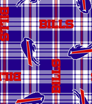 Buffalo Bills NFL Plaid Fleece Fabric by Fabric Traditions