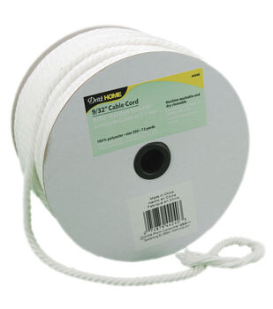"""9/32""""x72yd Cable Cord-White"""