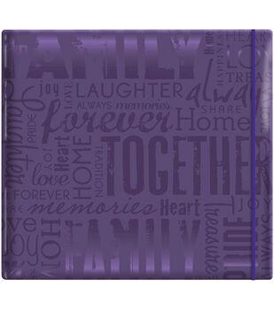 "MBI Gloss Scrapbook 12""X12""-Live Love Laugh-Deep Purple"