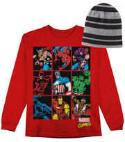 Marvel Comics Long Sleeved Shirt with Hat, , hi-res