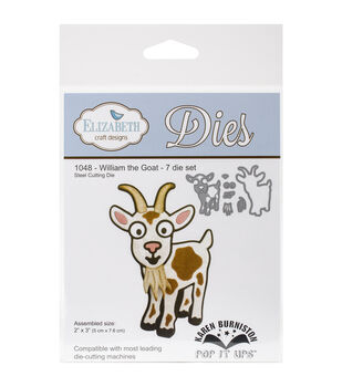 Elizabeth Craft Designs Pop It Up Steel Dies-William The Goat